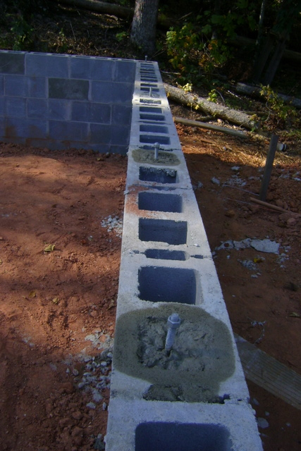 Concrete and rebar in block