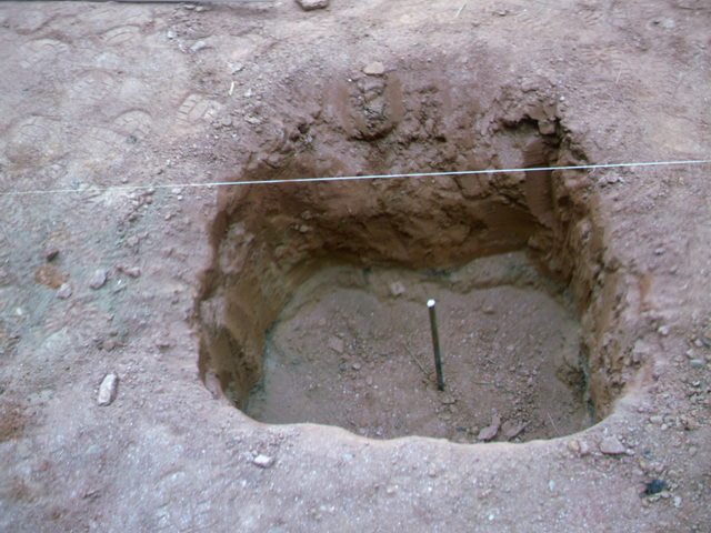 Pillar hole with rebar