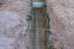 Trench with rebar